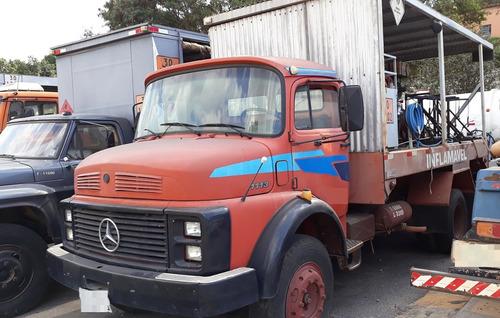mercedes-benz l-1113 caminhão comboio ano: 1983