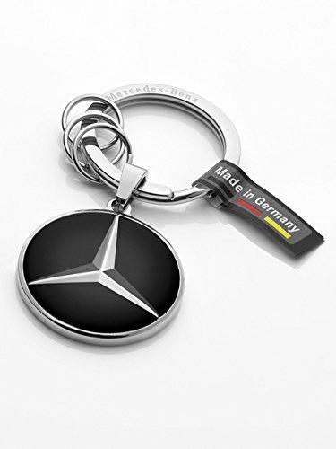 Llavero  plateado plateado//negro Mercedes-Benz