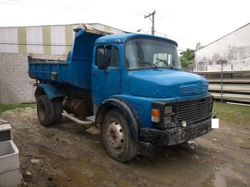 mercedes benz mb 1113 4x2 toco 1978 azul com caçamba