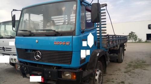 mercedes benz mb 1214 c  4x2 toco 1997 azul com carroceria