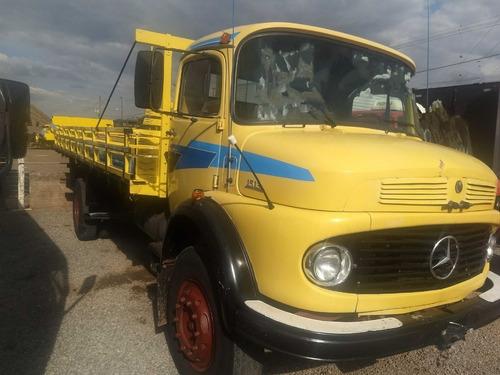 mercedes-benz mb 1513/80 amarelo carroceria de madeira