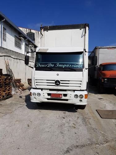 mercedes-benz mb 1718 6x2 truck 1994 sider 8,6m motor novo!!