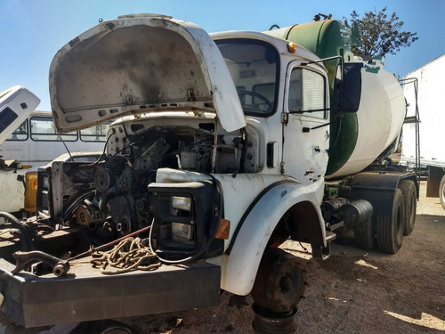 mercedes-benz mb 2219/85 branco 6x4 chassi
