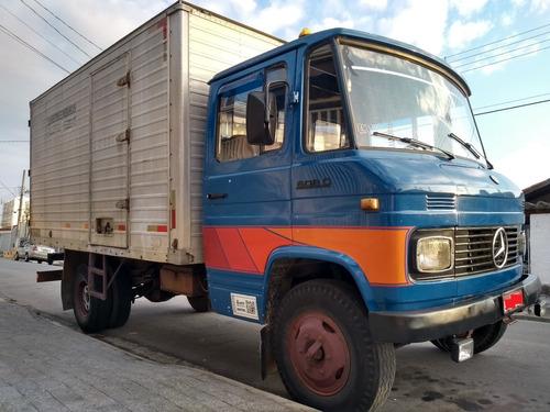 mercedes-benz mb 608 baú azul 1985