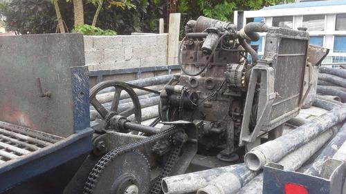 mercedes-benz mb 608 com bomba concreto excelente