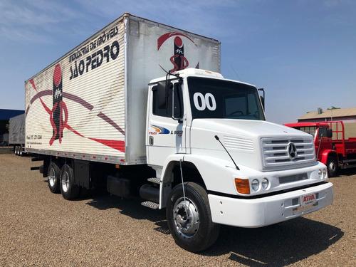 mercedes-benz mb l 1418 6x2 2000/2000 baú - ativa caminhões