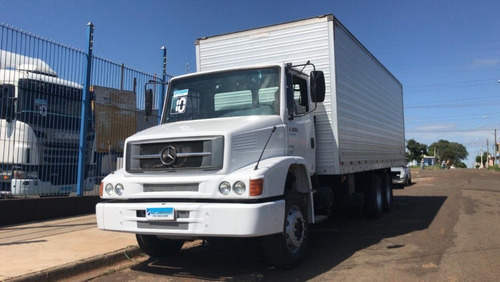 mercedes benz mb l 1620 truck baú 6x2 2010 = 10 vw 24250