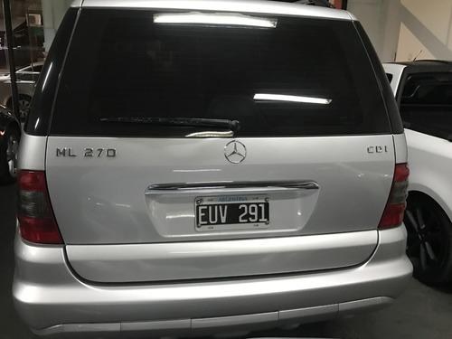 mercedes benz ml 270 cdi nueva !! (chip-autos)