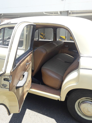 mercedes benz, ponton, modelo 1961. 1800 cc.