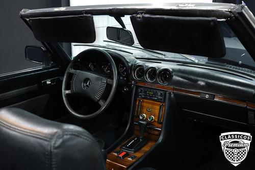 mercedes benz sl 350 1972 conversível - antiga - placa preta