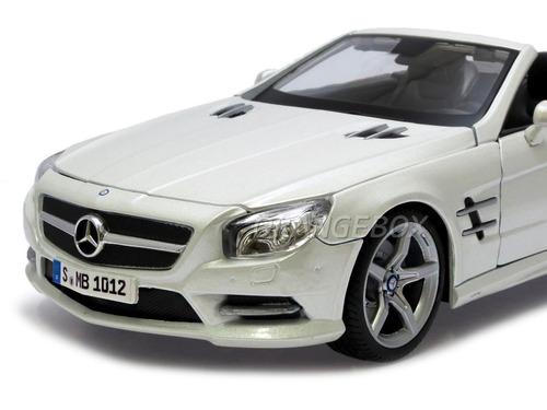 Mercedes Benz Sl 500 Convertible 2012 1:18 Maisto Branco