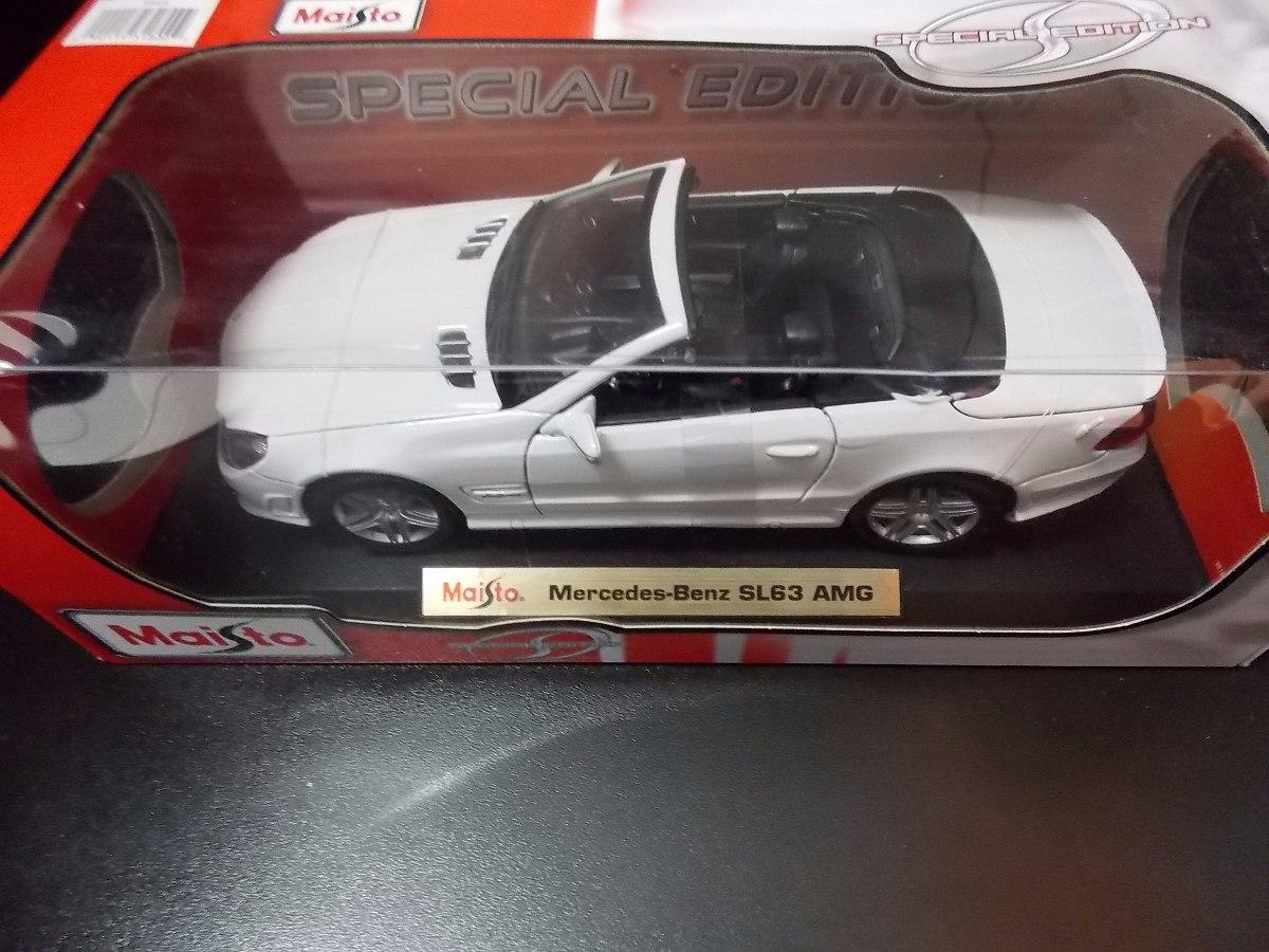 Mercedes Benz Sl63 Amg Maisto Special Edition 1:18 Branco. Carregando Zoom.