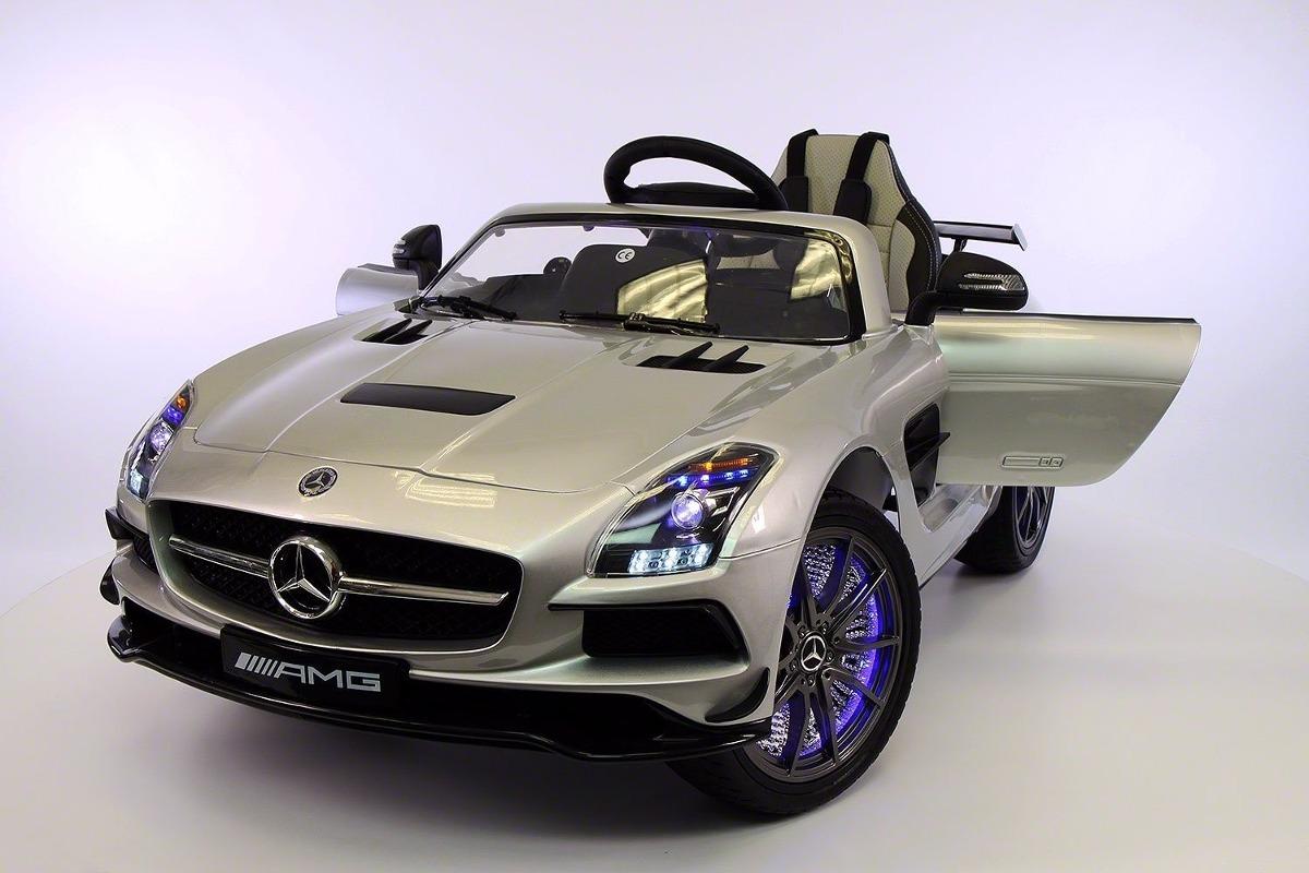 Mercedes benz sls amg 12v kids ride on car mp3 mp4 color for Mercedes benz kid car
