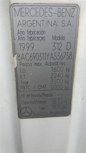 mercedes-benz sprinter 312 ano 2000 c/ baú de alumínio