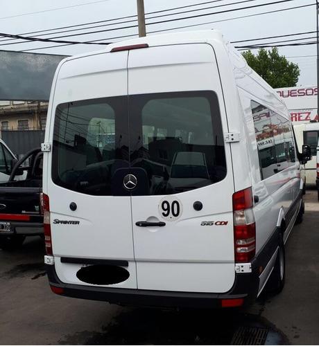 mercedes benz sprinter 515 minibus 19+1 año 2013