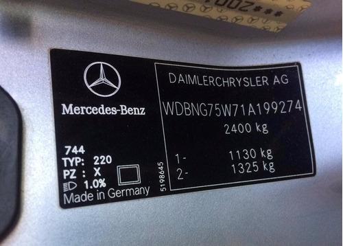 mercedes s500 v8 5.0 2001 w220 sucata peças motor painel