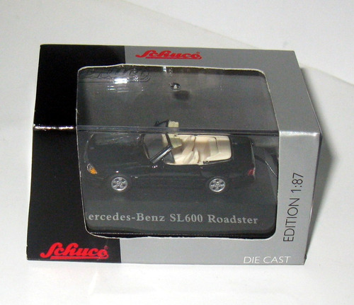 mercedes sl 600 roadster - escala 1/87 schuco