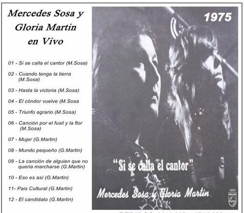 mercedes sosa/ gloria martin/ soledad bravo/  cd