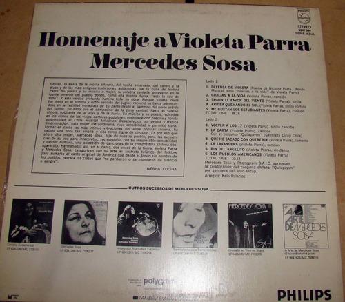 mercedes sosa homenaje a violeta parra lp argentino