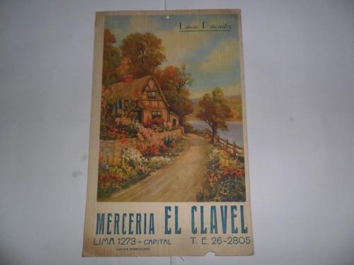 merceria el clavel lana paisanita antigua lamina publicidad