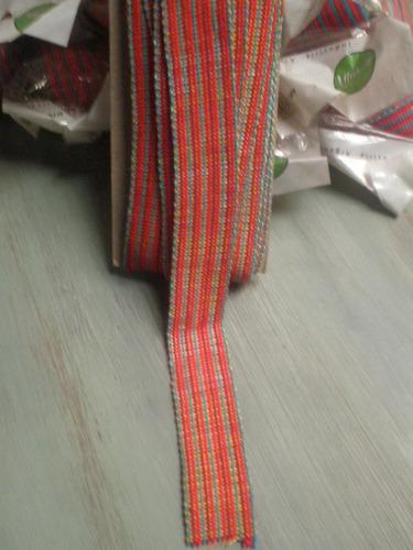merceria galon tejido multicolor . lote