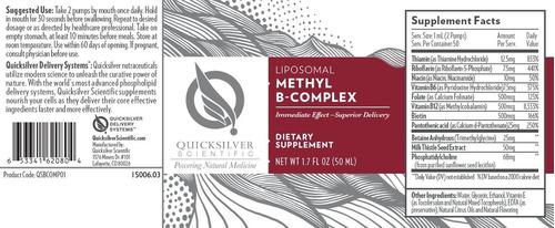 mercurio científico metilo b complejo líquido vitamina b