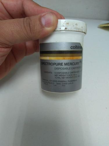mercurio liquido alta pureza o tridestilado fra. x 151 grm.