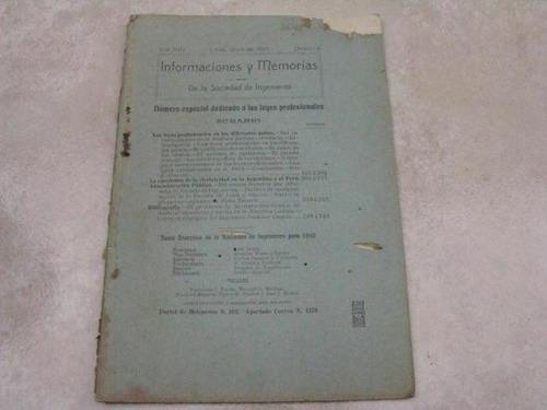 mercurio peruano: antiguo boletin ingenieria 4-1910 l25