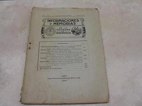 mercurio peruano: antiguo boletin ingenieria 7,8-1914 l25