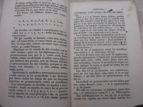 mercurio peruano: antiguo libro gramatica latina 1839 l22