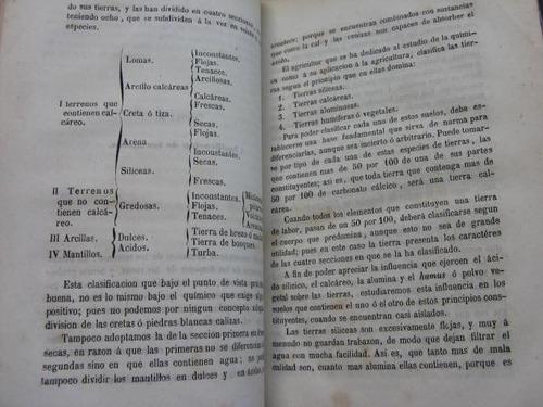 mercurio peruano: antiguo libro quimica agricola 1853 l34
