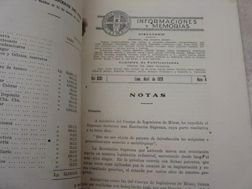 mercurio peruano: boletin ingenieria sociedad 4,  1929 l25