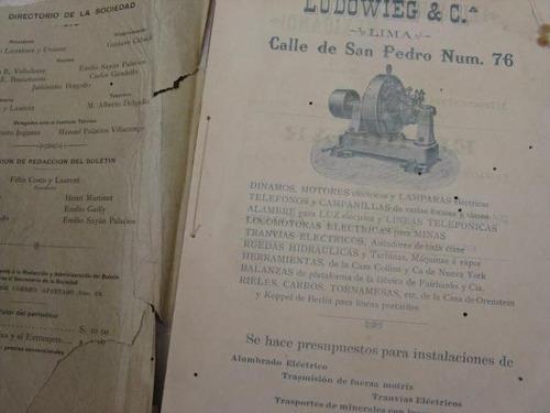 mercurio peruano: boletin sociedad de ingenieros 1901 l25