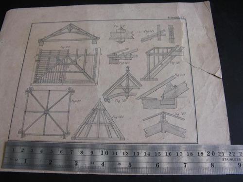 mercurio peruano: impreso antiguo trabajo madera 1 l92
