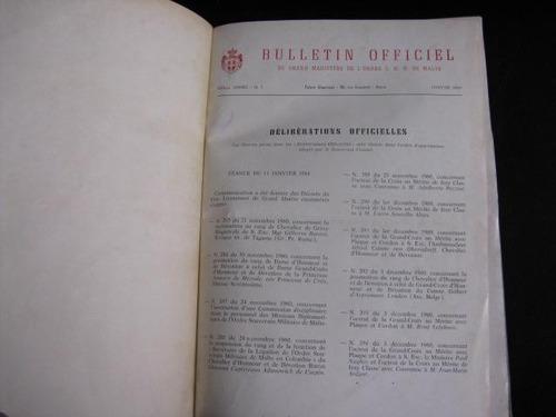 mercurio peruano: libro 1961 orden de malta boletin  l141