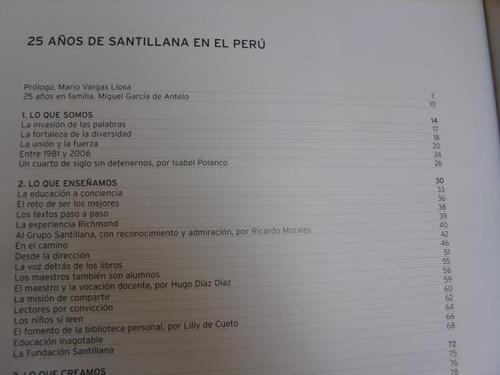 mercurio peruano: libro  25 años de editorial santillana l72