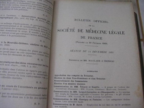mercurio peruano: libro anales de medicina legal 1932 l-2