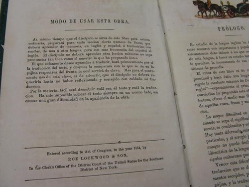mercurio peruano: libro antiguo traductor ingles 1854 l28
