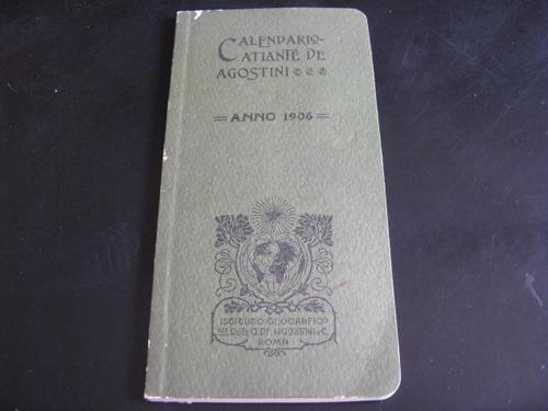 mercurio peruano: libro calendario atlante agostini 1906 l51