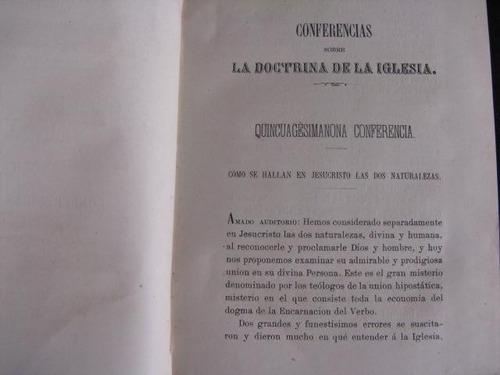mercurio peruano: libro conferencias catolicas t3 1874 l57