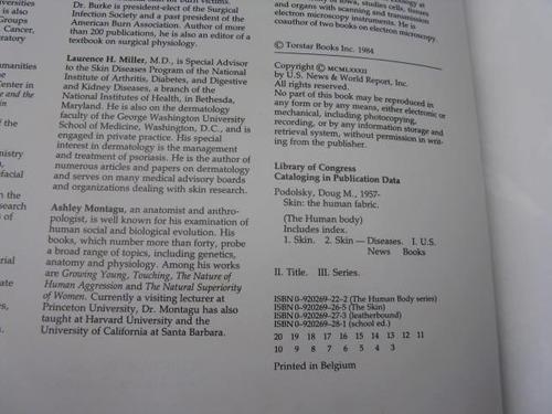 mercurio peruano: libro cuerpo humano piel l38
