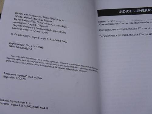 mercurio peruano: libro diccionario español ingles tomo8 l36
