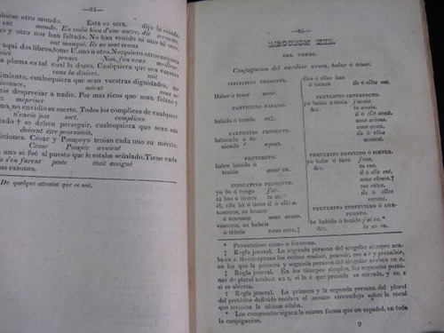 mercurio peruano: libro elementos lengua francesa 1846 l56