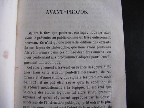 mercurio peruano: libro filosofia 1866 charles jourdain  l66