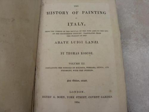 mercurio peruano: libro historia pintura italia 1854 t3 l27