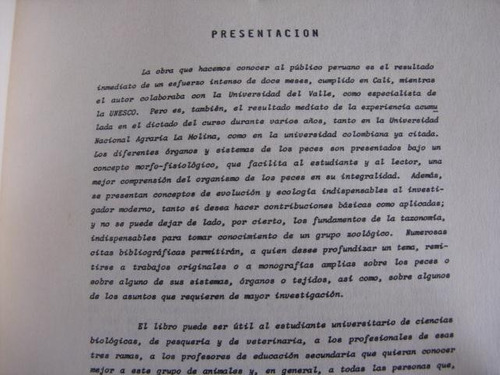 mercurio peruano: libro ictiologia peces pesca  l67