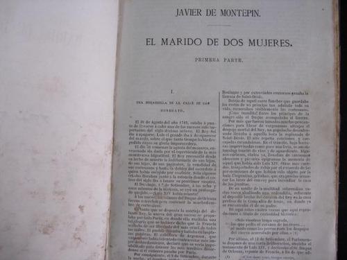 mercurio peruano: libro marido de dos mujeres montepin l56