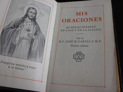 mercurio peruano: libro misal mis oraciones 1954 l51