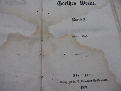 mercurio peruano: libro obras goethe t 1,2,7,8,9,10 1867 l23