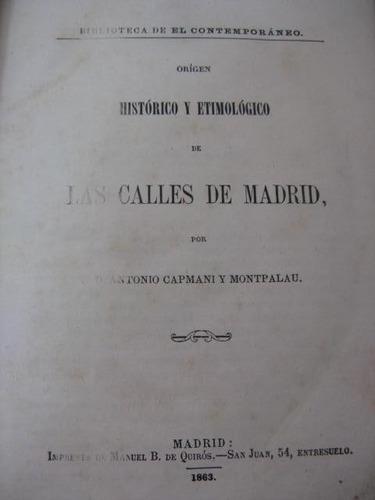 mercurio peruano: libro origen de calles de madrid 1863 l-2